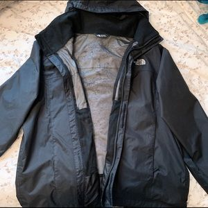 The North Face Black Rain Coat/Track Jacket